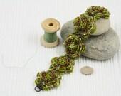 Apple Green Flower Bracelet