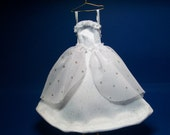 1/12 scale modern, contemporary wedding dress, bridal gift