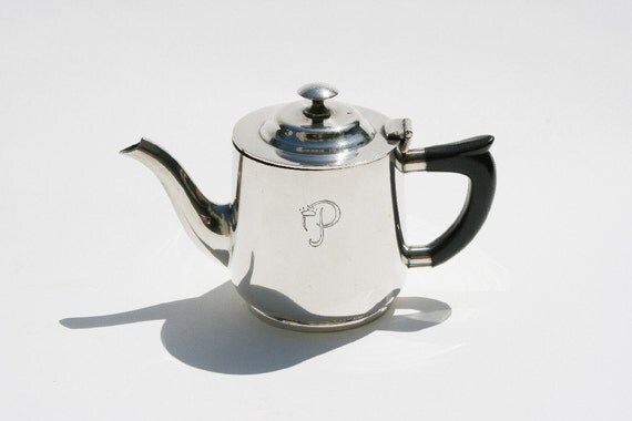 Vintage silver teapot from the Princess Hotel, Freeport, Bahamas