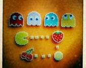 8-bit Pac-Man magnets