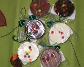 6 Chocolate covered Oreo Cookies in  White, Milk, Dark Or Assorted Chocolate with Fall Sprinkles