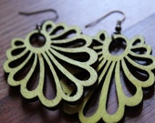 Clearance- Phoenix Tail Earrings - Lime