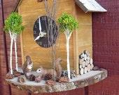 Woodland Squirrels Cuckoo Clock