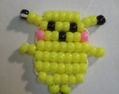 Childens Yellow Pokemon Pony Bead Key Chain Very Cute Great for the BackPack or Just your Keys
