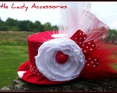 Mini Top Hat Headband, Alice in Wonderland Polka Dot Minnie Mouse , Birthday, Costume, Photo Prop
