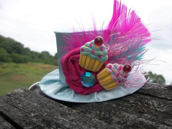 Mini Cupcake Birthday Top Hat Party  Photo Prop  Alice in Wonderland