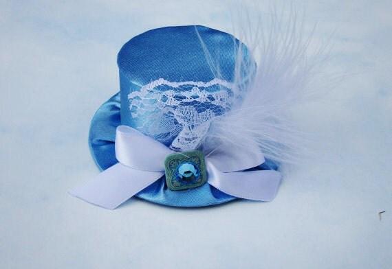 Alice in Wonderland Mini Top Hat - Birthday Costume Photo Prop Alice in Wonderland Mad Hatter