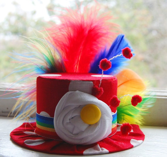 Circus Mini Top Hat - Costume  - Circus Birthday - Halloween Clown - Photo Prop