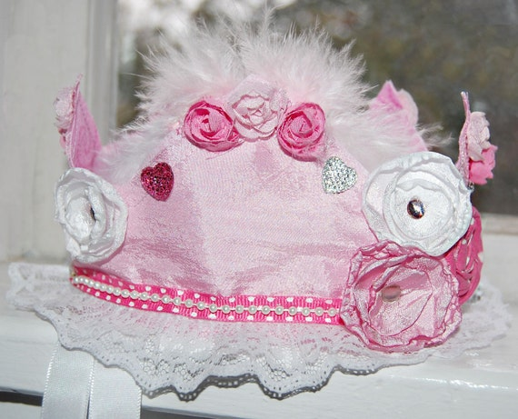 Birthday Crown - Party Hat - Photo Prop - Pink Party Crown - Ready to Ship