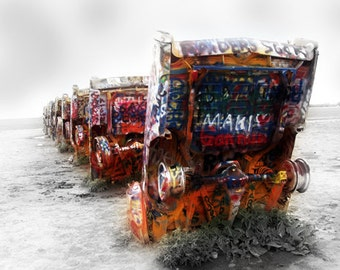 Route 66 - Cadillac Ranch - Fine Art Photograph