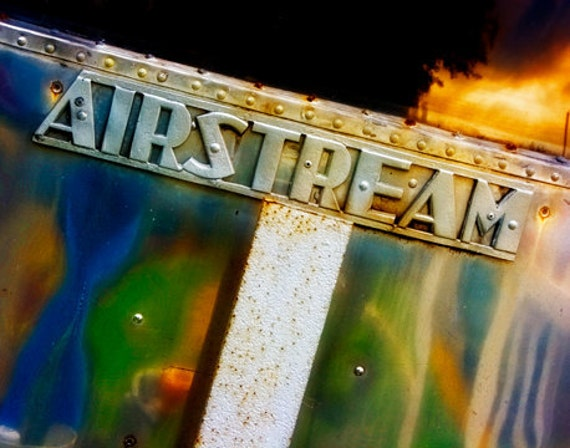Airstream Travel Trailer Name Plate - Fine Art Photo