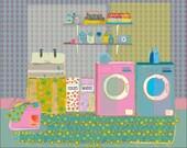 "Laundry Room, 10""x8"""