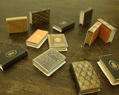 dollhouse miniature package of assorted books. 10 pcs