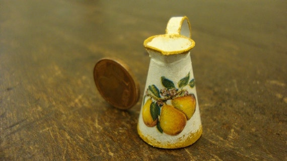 Miniature jug decorated with pears