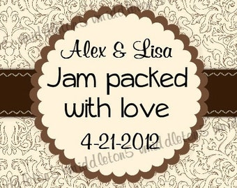 Wedding Favor Jam Jar Label Print Your Own