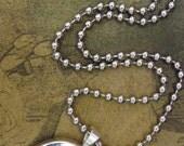 "16"" Silver Tone Ball Chain Necklace"