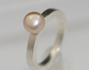 Sterling Silver Ring Pearl