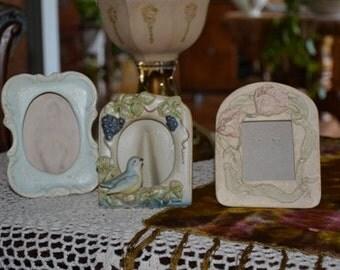 Vintage 1950 Ceramic Picture Frames