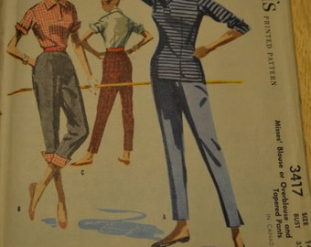 1955 McCall's no 3417