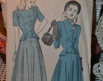 1940s Advance Pattern no. 4771  2pc Suit