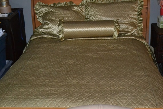 Sage Green  Quilted Comforter Set