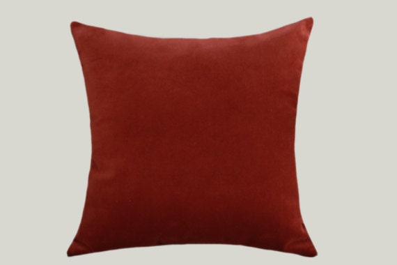 Red And Orange Decorative Pillows : Red Orange color decorative Velvet fabric Throw pillow cover