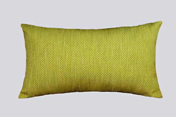 Yellow Green Decorative Pillows : Decorative Pillow case Textured Green-Yellow color Decorative