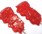 10 FIRE TRUCK LOLLIPOPS - Pick Any Color and Flavor