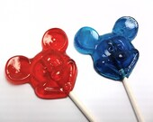 Buy 6 Get 6 Free - MICKEY MOUSE LOLLIPOPS - Pick Any Color and Flavor