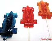 Buy 6 Get 6 Free -  RACE CAR LOLLIPOPS - Any Color and Flavor