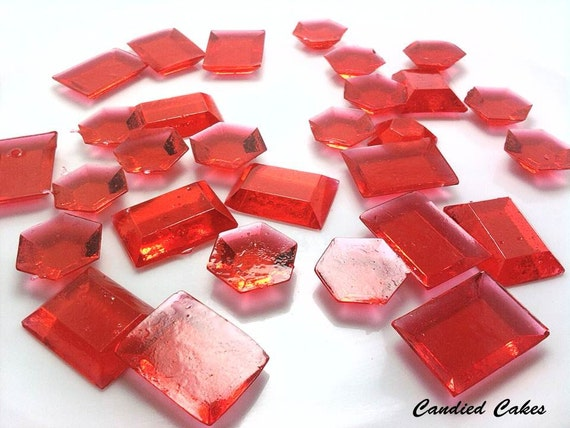 Buy 50 Get 50 Free - RED EDIBLE JEWELS - Any Color