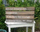 Wooden Crate with Disney Quote