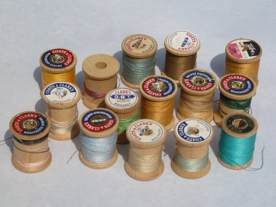 Vintage Wooden Spools of Thread Fifteen