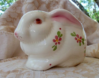 Vintage Avon Rabbit Bunny Planter or Potpourri Pot or Candle Holder