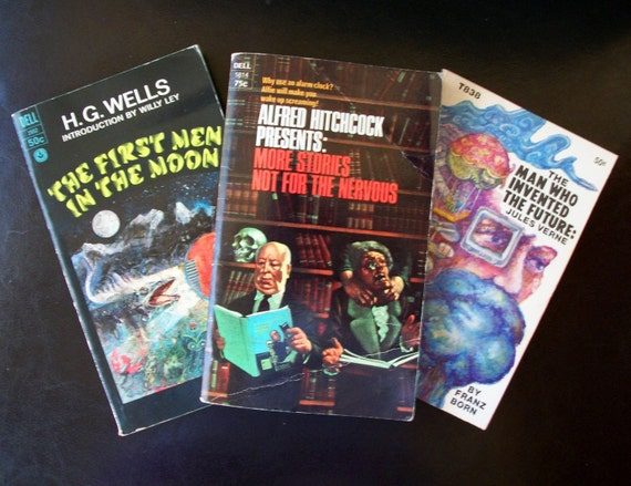 Vintage Trio of Science Fiction Paperback Books