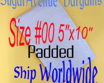 "25PK 5""x10"" Size 00 Poly Bubble Envelopes/Mailers Fast Ship"