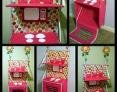 Folding fabric Play Kitchen e-pattern. Store away when not using.