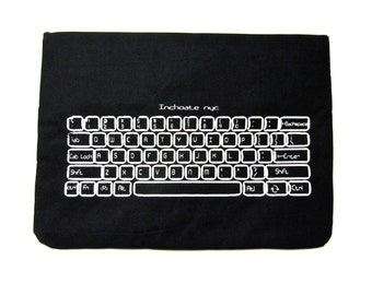 Padded keyboard print laptop cover/sleeve/case for macbook/pro13'' -Custom Sizing Available, Ready to ship-