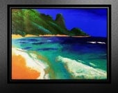 On SALE, reduced 250. Coco Beach: Relaxing. Original Painting size 30 x 40.