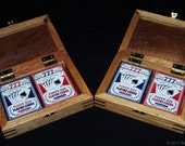 Reserved Listing For Todd - Made To Order - White Oak and Walnut Double Playing Card Keeper