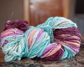 Handspun Self Striping Textured Art Yarn 138 yds