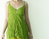 SALE.. Cotton Camisole for Summer in Green