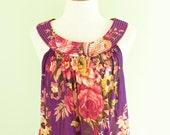 Floral Cotton Sundress in Violet