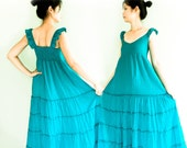 Romantic Maxi Dress in Turquoise