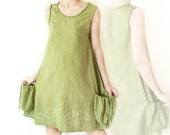 Sale.. Cotton Vest Top in Light Green for Spring Summer - oOlives