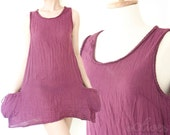 Sale 60% Off, Comfy Cotton Spring Summer Top in Purple.
