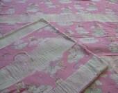 Princess/Unicorn Fleece Blanket Set, Girl and American girl doll blanket set, Pink and white travel blankets, green fleece girls blankets