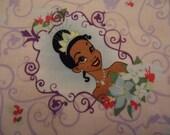 Princess Tiana Blanket, Disney Princess Blanket, Girls Pink Blanket, Travel Blanket, Lightweight Blanket, Twin Bed Blanket, Handmade Blanket
