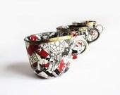 GRAFMUG handmade porcelain cup with decals and platinum