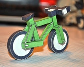 paperbikes v1.1  - XC MTB mountain paper bike - papercraft bicycle model kit